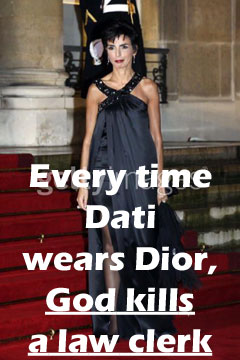 Every time Dati wears Dior, God kills a law clerk